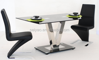 Latest Designs V Shape Table With Z Chairs 1 2 Dining Set