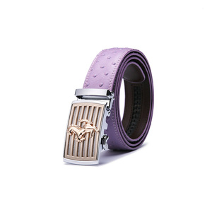 high quality female style purple waistband decorate automatic custom belt buckle