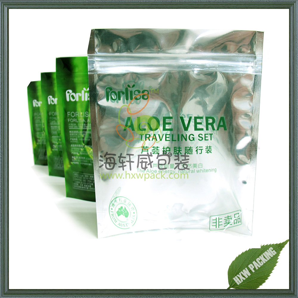 Crisp tobacco clear window transparent pouch aluminum foil packaging stand up pouch zip lock bags