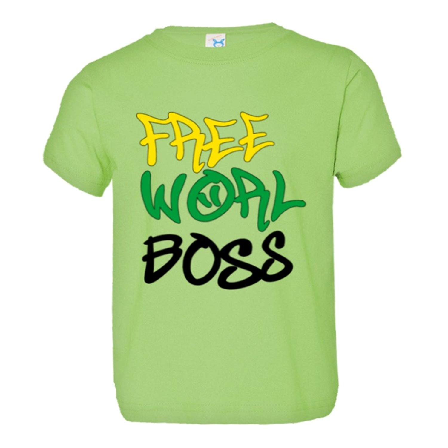 7511accff Get Quotations · PleaseMeTees Toddler Free Worl Boss Jamaican Flag Kartel  Dance Hall HQ Tee Shirt