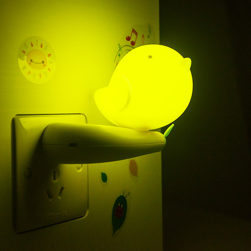 Creative Birds' Shape A Small Night Light with Switch Electrical sensor LED Induction with plug/wall lamp /Corridor lights