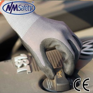 Nmsafety 15 gauge super quality form nitrile dipped work gloves