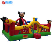 China Huashi customized cheap sesame street theme commercial bounce houses jumping castle inflatable bouncer