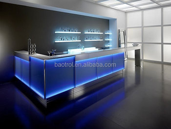 Blue led light bar gel solid surface modern home mini bar counter blue led light bar gel solid surface modern home mini bar counter aloadofball Images