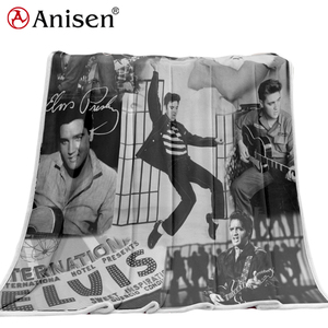 Wholesale polyester character Elvis famous star 3d digital printed blanket