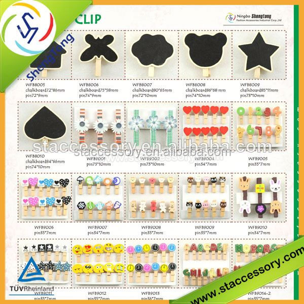Design decorative wooden clip wooden clothes clips