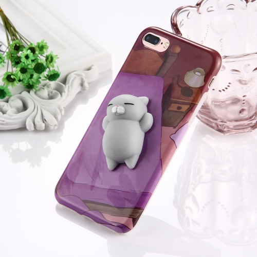 Dropshipping Cute 3D Stress Reliever Squishy Bear Toy Squishy Phone Case for iphone 7 Plus