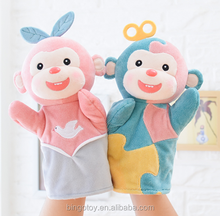 latest soft pretty stuffed plush monkey hand puppets toys