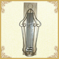 Wall mounted votive metal candle holder wall lighting