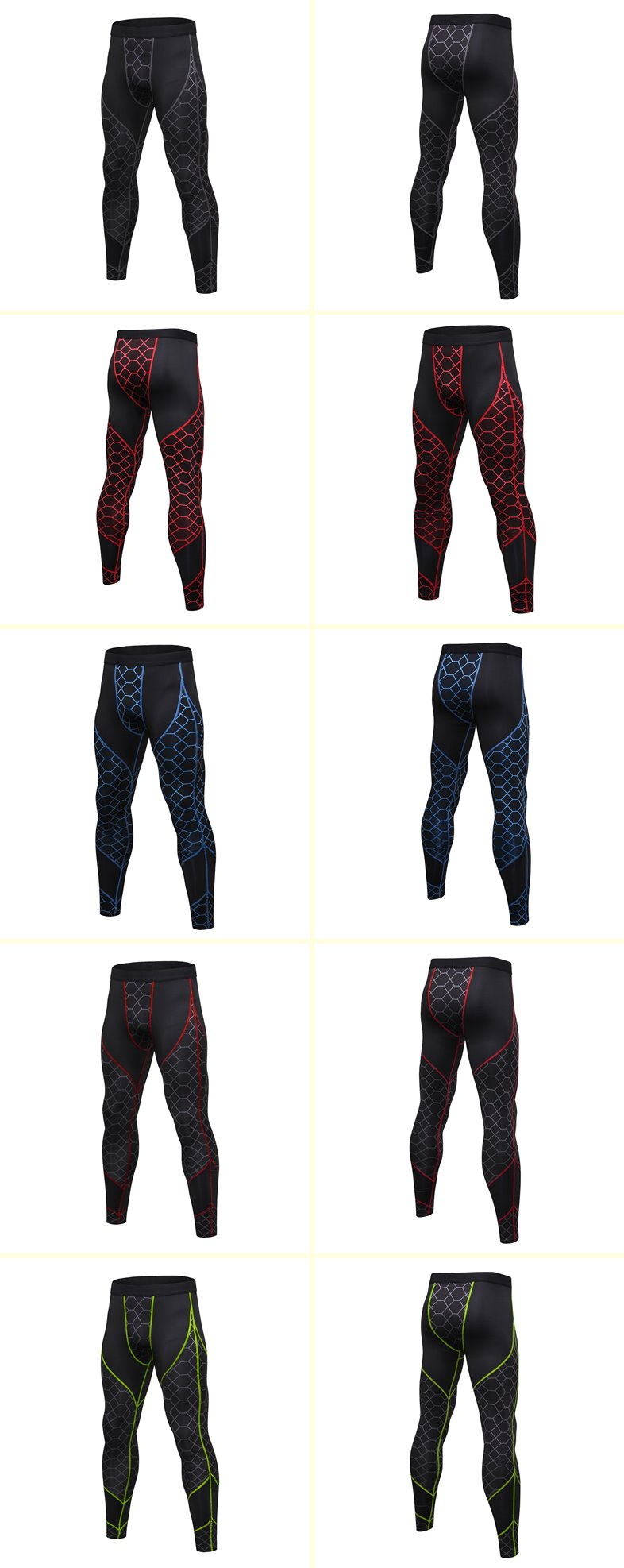 Custom Running Gym Leggings Mens Compression Fitness Tights Pants Yoga Sport Leggings Wholesale