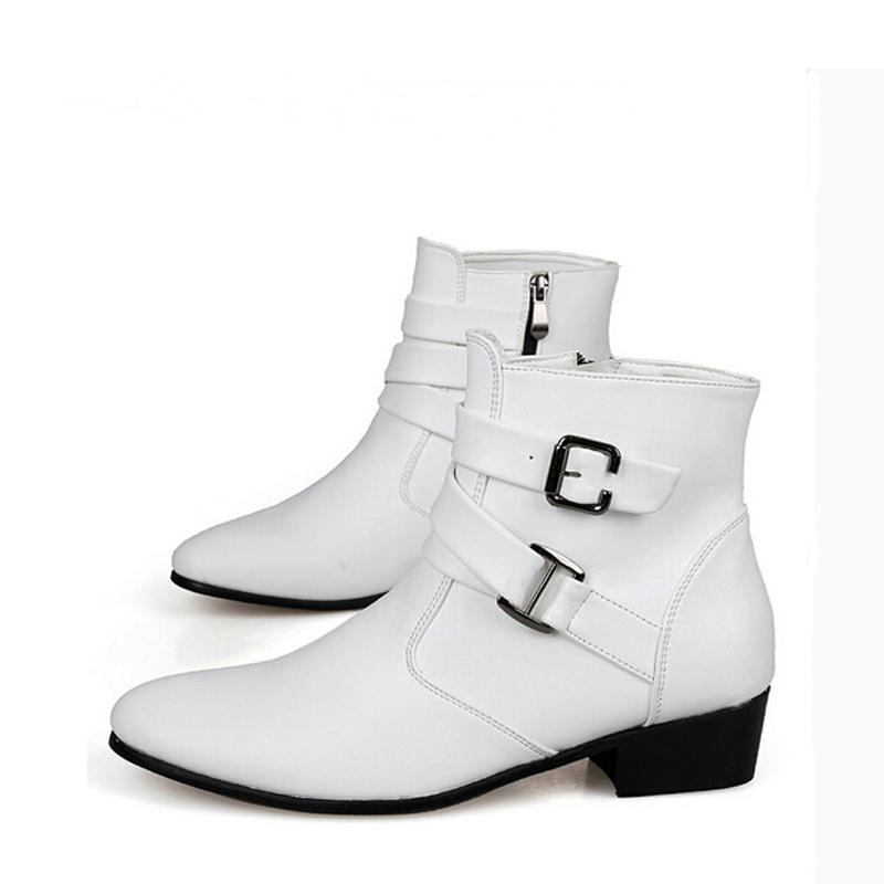 Men White Boots Fashion 109