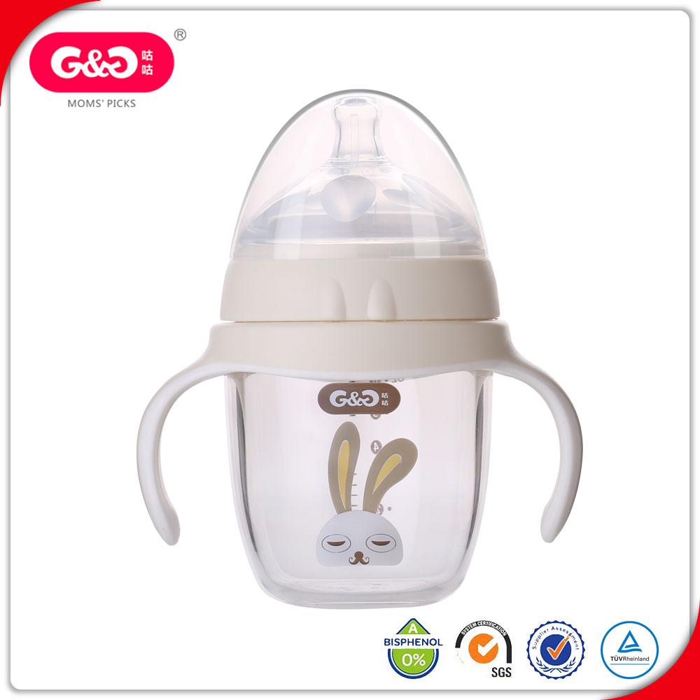 New Style BPA Free Tritan Baby Milk Feeding Bottle With Handle