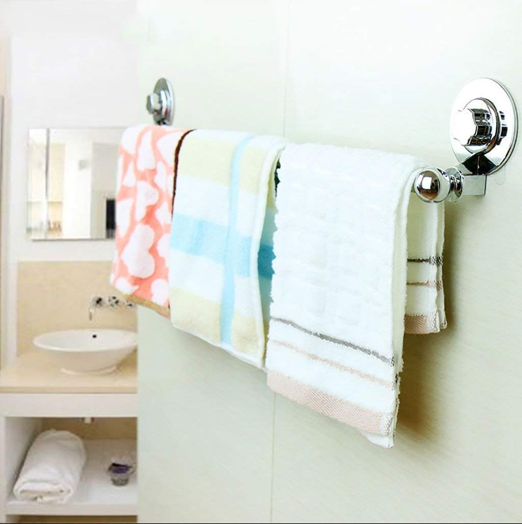 EQEQ Teats Towel Holder Towel Rack Free Wiper-Hands in Bath Rooms Bar Bath Rooms, The Stainless Steel Towel Rail Towel Rail with Unilateral Piston Rod