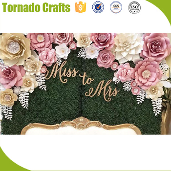 Diy 3d Paper Floral Artificial Paper Flower Wall For Wedding Occasion Home Party Banquet Decor Handmade Buy Wall Hanging Artificial Flowers Paper