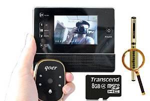 """Blueskysea Free Gift Gel Pen + Free 8GB + 3"""" Door Doorbell Viewer Peehole Camera Video DVR Night Vision 3X Zoom 120°"""