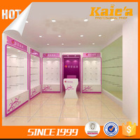 Guangzhou manufacturer wood ladies' underwear display showcase for private shop