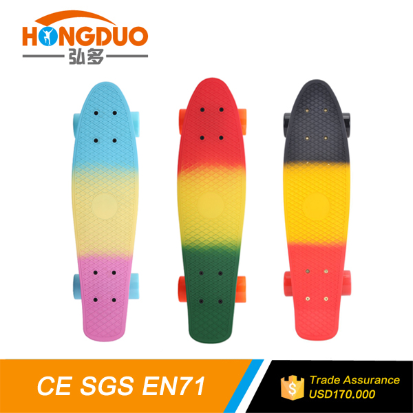hot selling skateboard plastic colorful 22inch fishboard