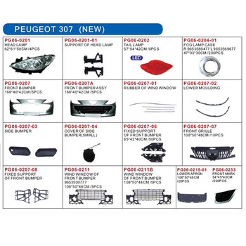 Auto Lamp And Body Parts For Peugeot 307 New - Buy Peugeot 307 New ...