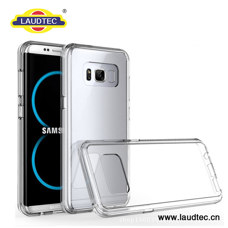 LAUDTEC Ultra Hybrid tpu bumper Case for Galaxy S8 Plus - Crystal Clear