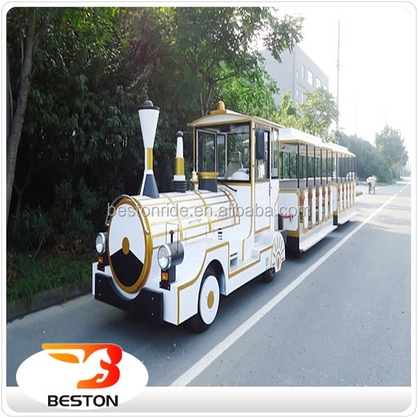Beston game center equipment amusement park trackless road sightseeing train for sale