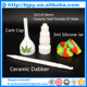 6 in 1 domeless ceramic nail and ceramic carb cab and dabber and silicone jar