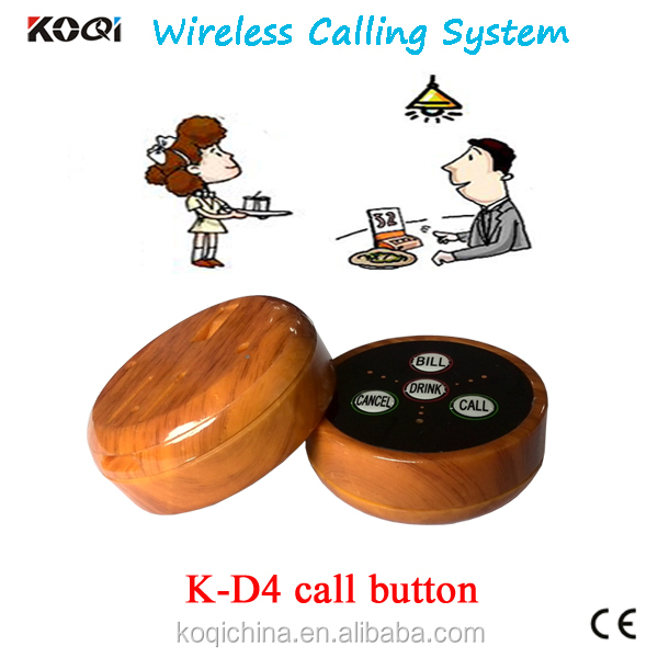 Restaurant Table Buzzer Buttons With K-D4 Best Discount KOQI CE certification wireless service calling system