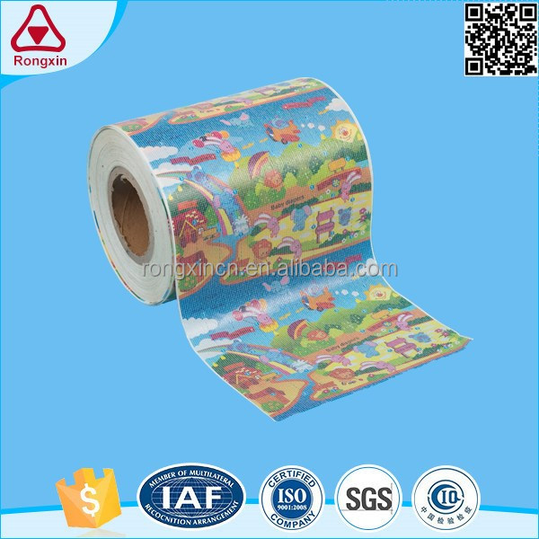 ISO9001 High quality shearing force >30N/25mm diaper raw material pp side magic loops frontal tape
