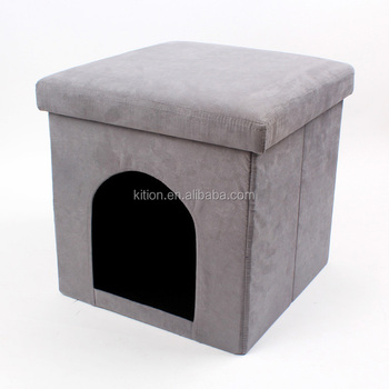 Humen chair pet house ottomans made of suede,foam,MDF,nonwoven