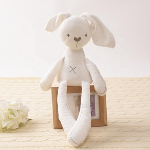 new coming white sweet long ear rabbit plush toy sleeping mate