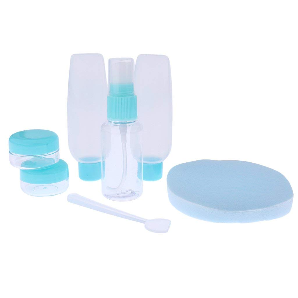 Dovewill Woman Makeup Accs Travel Squeeze Bottles Plastic Toiletries Container Blue