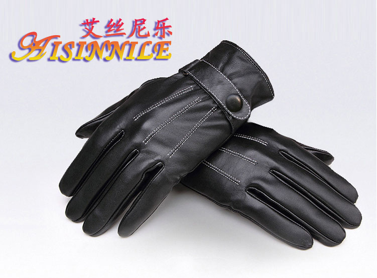 Classic Touch Screen compatible Leather Gloves for Men Outdoor Sport Driving