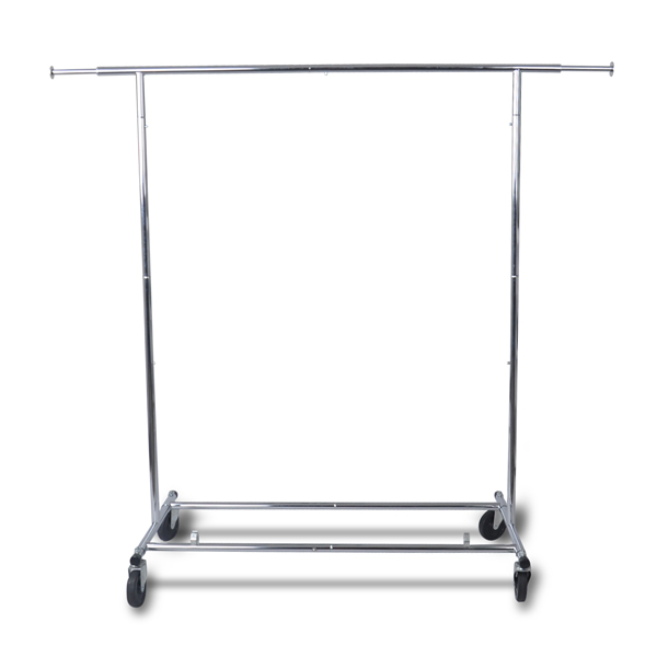 <strong>Retail</strong> Store Metal Chrome Extanding Garment Display Rail clothing rack