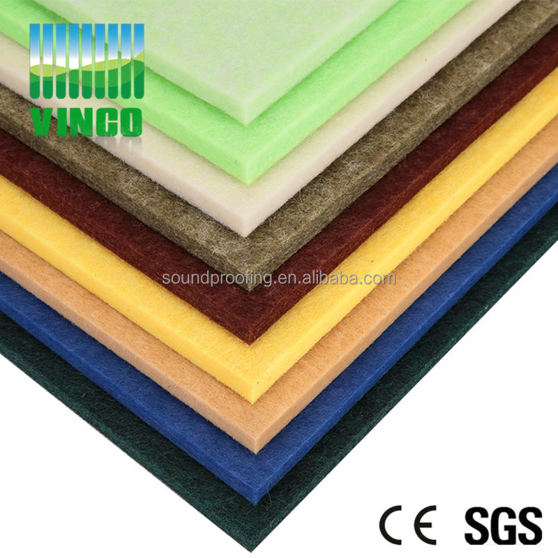 Polyester Wall Panel 100% PET Eco Friendly and Fire Retardant Acoustic Panel