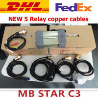 Newest MB STAR C3 multiplexer New red Relay and five Strong Copper Cable