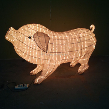 big zodiac animal pig rope light xmas new year party outdoor decoration ce rohs saa - Pig Christmas Decorations Outdoors