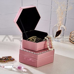 ARTHOME L S Size jewelry box manufacturers china/wholesale glass jewellery box