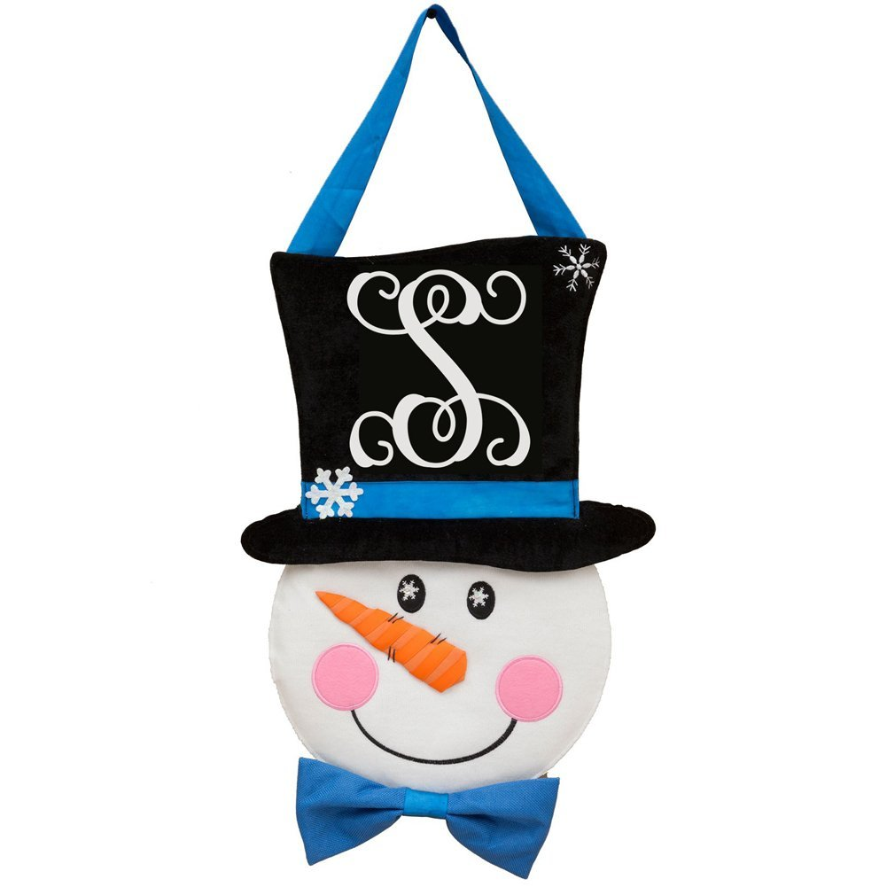 Custom Décor Snowman Monogram S Hang Around