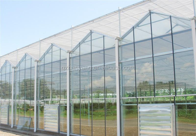 Estructura de acero metal madera natural material vidrio - Invernadero de cristal ...
