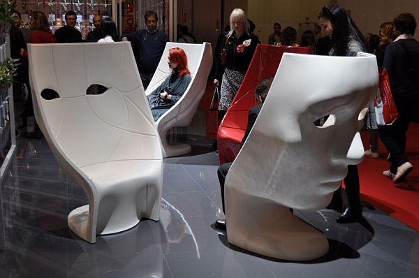 Designer Möbel Nemo Maske Gesicht Stuhl Driade Nemo Chair