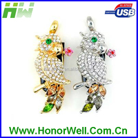 The lucky bird shape jewelry usb flash memory