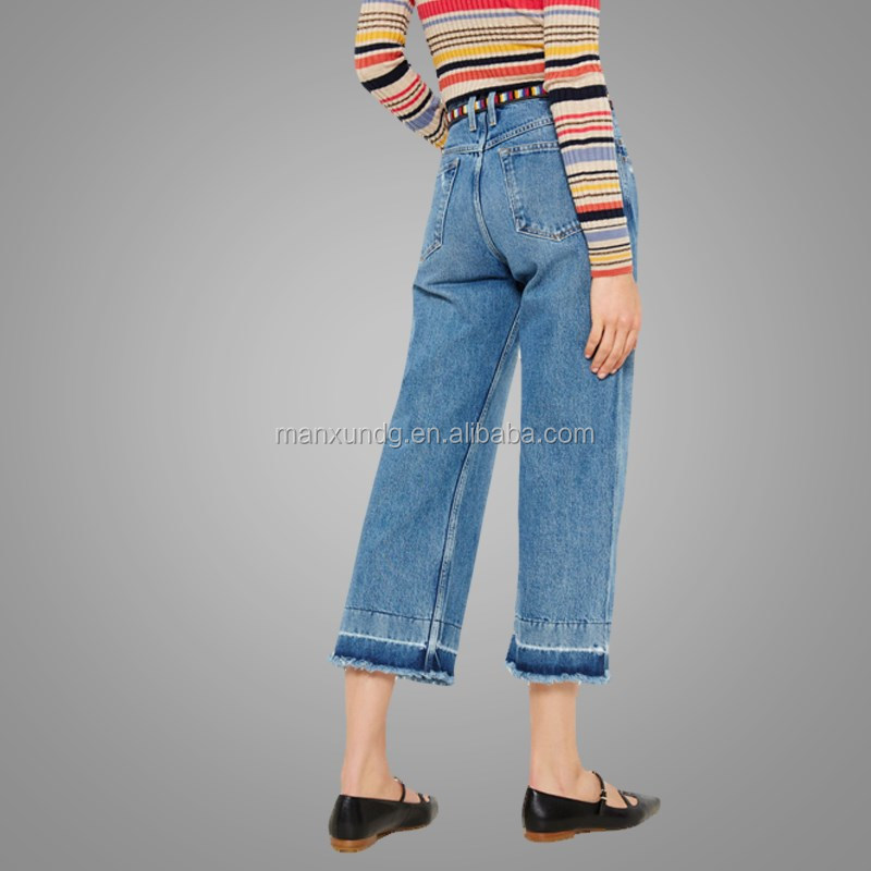 Kustom Jeans Wanita Cropped Menyala Celana Model Celana Jeans