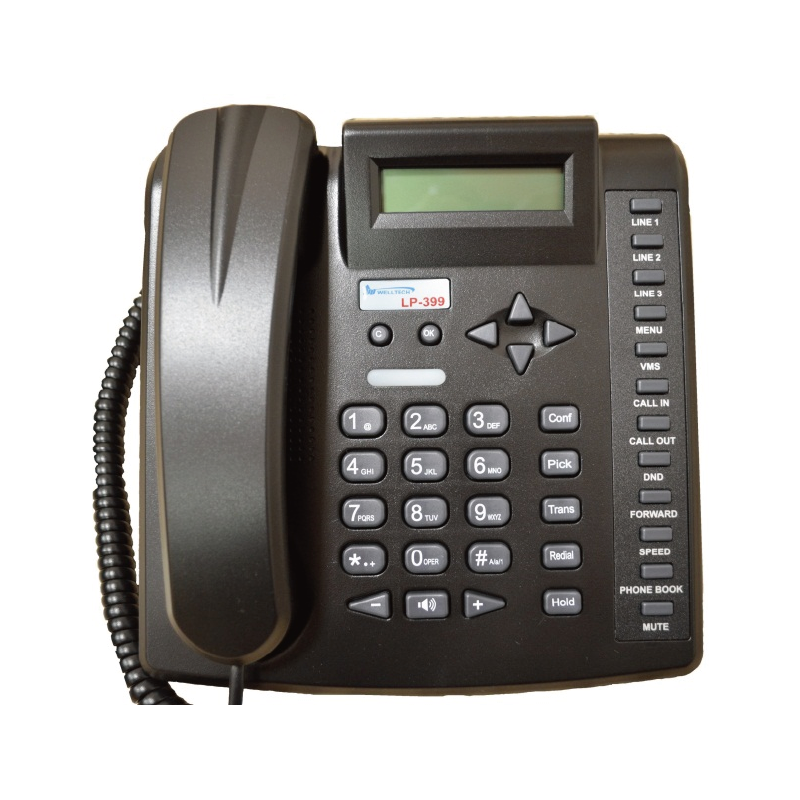 Gigabit Enternet IP Cordless Phone VoIP Machine With IPv6 and IPv4 Dual IP Network