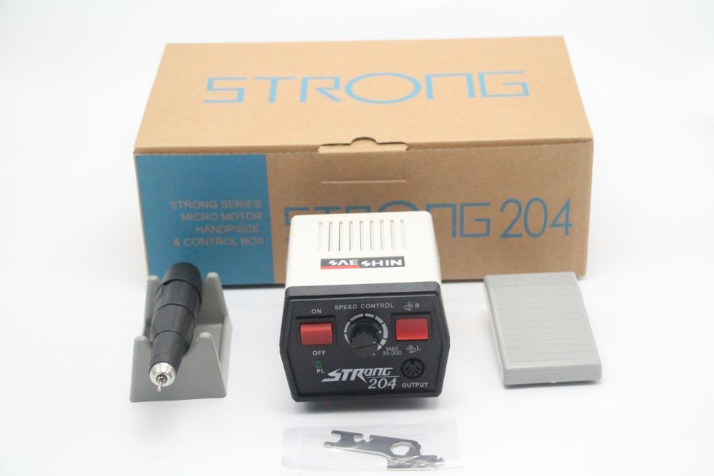 new portable saeshin strong 204 dental Micro motor for 35000rpm carbon brush micromotor handpiece