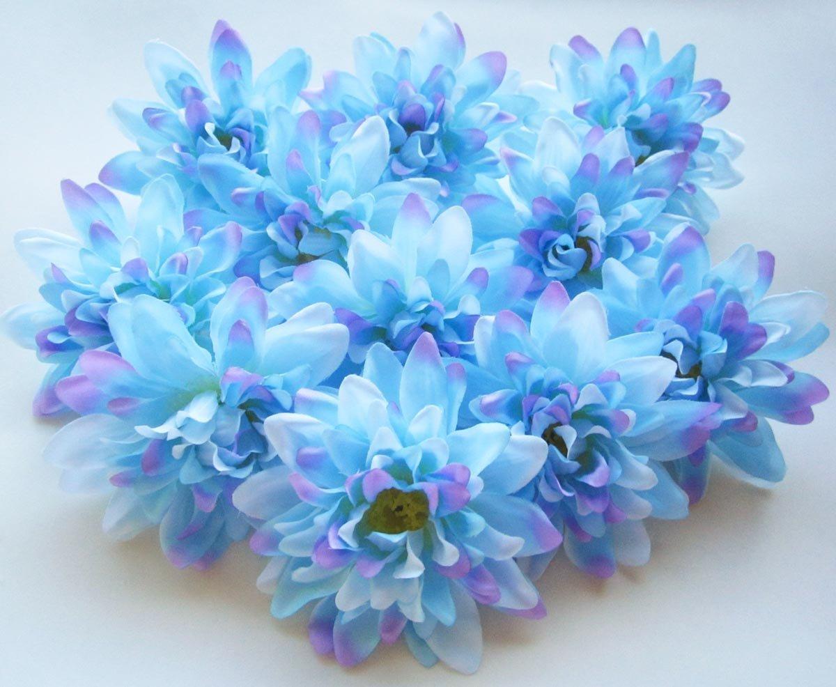 Cheap wholesale dahlia flowers find wholesale dahlia flowers deals get quotations 12 blue silk dahlia flower heads 4 artificial flowers dahlias head izmirmasajfo