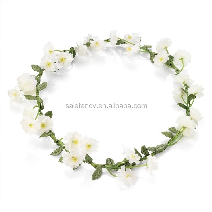 White Color Unique Model Daisy Flower Crown Headband Princess Crown