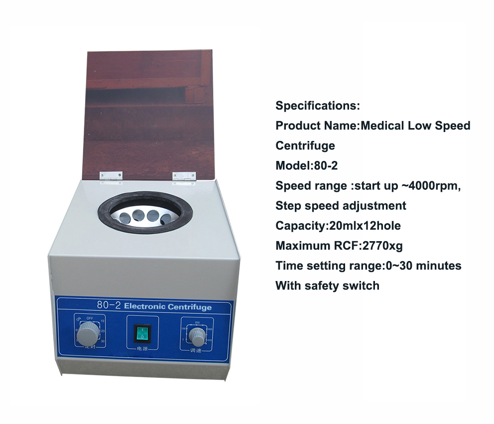 Laboratory 80-2 Low Speed centrifuge machine medical technology centrifuge