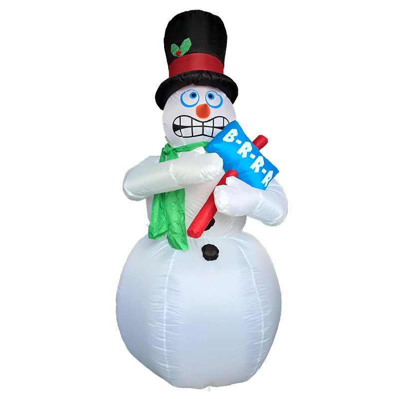 Animated Shivering Christmas Snowman <strong>Inflatable</strong> 1.8m