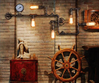 Popular Industrial Pendant Light Water Pipe Light With Plug Cord+ ...