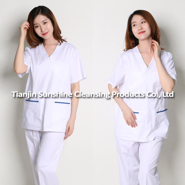 OEM Service Available Male Nurse White Uniform Designs