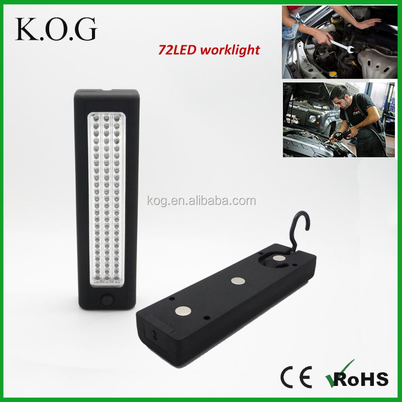 High Power Battery Powered 72 LED Magnetic Work Light to Europe